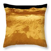 3d Perspective View Of Sapas Mons Throw Pillow