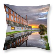 3m Building Sunrise Throw Pillow