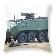 A Belgian Army Piranha IIic With The Fn Throw Pillow