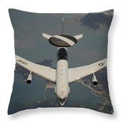 A U.s. Air Force E-3 Sentry Aircraft Throw Pillow