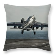 An Ea-6b Prowler Launches Throw Pillow