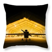 An Rq-5 Hunter Unmanned Aerial Vehicle Throw Pillow