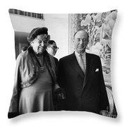 Anna Eleanor Roosevelt Throw Pillow