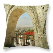 Arequipa Peru Throw Pillow