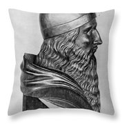 Aristotle, Ancient Greek Philosopher Throw Pillow by Science Source