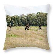 Belgian Paratroopers Proceeding Throw Pillow