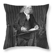 Benjamin Franklin, American Polymath Throw Pillow