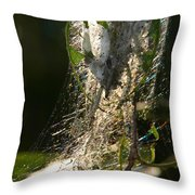 Bird-cherry Ermine Caterpillars Throw Pillow