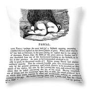 Blaise Pascal (1623-1662) Throw Pillow