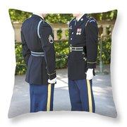 Changing Of Guard At Arlington National Throw Pillow