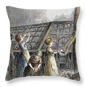 Child Labor, 1873 Throw Pillow