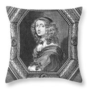 Christina (1626-1689) Throw Pillow by Granger