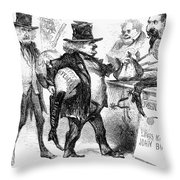 Civil War: Cartoon, 1861 Throw Pillow