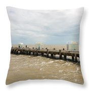 Clacton Pier Throw Pillow