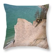 Coastal Erosion Throw Pillow