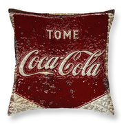 Coca Cola Classic Vintage Rusty Sign Throw Pillow