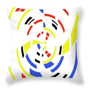 4 Colors Abstract Throw Pillow