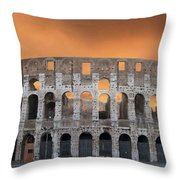 Colosseum. Rome Throw Pillow