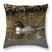 Common Merganser Throw Pillow