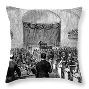 Cornelius Vanderbilt Throw Pillow
