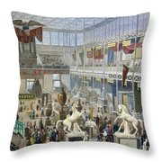 Crystal Palace, 1851 Throw Pillow
