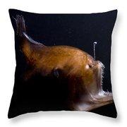 Deep Sea Angler Throw Pillow