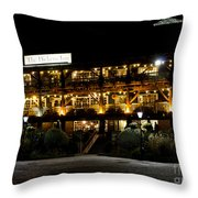 Dickens Inn Pub St Katherines Dock London Throw Pillow