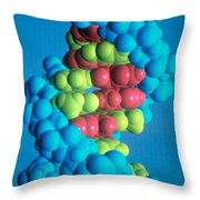 Dna Throw Pillow by Science Source