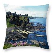 Dunluce Castle, Co Antrim, Ireland Throw Pillow