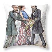 Election Cartoon, 1876 Throw Pillow