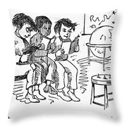 Elementary School, 1869 Throw Pillow