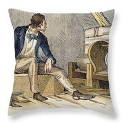 Eli Whitney (1765-1825) Throw Pillow