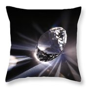 Faceted Quartz Gem Throw Pillow