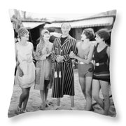 Film Still: Beach Throw Pillow