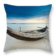 Fisherman Boat Throw Pillow