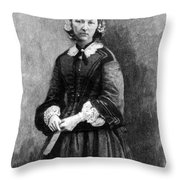 Florence Nightingale, English Nurse Throw Pillow