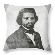 Frederick Douglass, African-american Throw Pillow