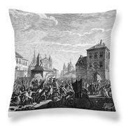 French Revolution, 1790 Throw Pillow