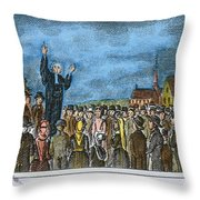 George Whitefield Throw Pillow