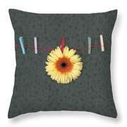Gerbera Throw Pillow by Joana Kruse