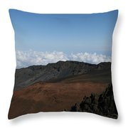 Haleakala Volcano Maui Hawaii Throw Pillow