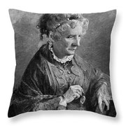 Harriet Beecher Stowe Throw Pillow