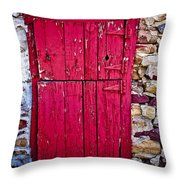 4 Hinges Throw Pillow