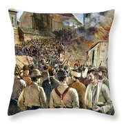 Homestead Strike, 1892 Throw Pillow by Granger