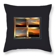4 In 1 Sunsets Throw Pillow