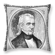 James K. Polk (1795-1849) Throw Pillow