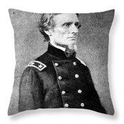 Jefferson Davis (1808-1889) Throw Pillow