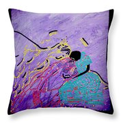 Jesus And Mary Throw Pillow by Gloria Ssali