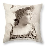 Lillian Russell (1861-1922) Throw Pillow
