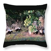 4 Little Stinkers Throw Pillow